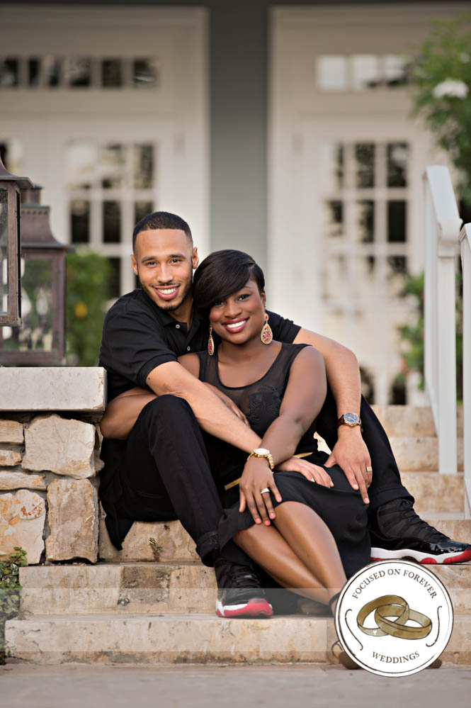 Engaged: Tawana and Isaiah engagement session at Royal Poinciana Chapel in Palm Beach, FL