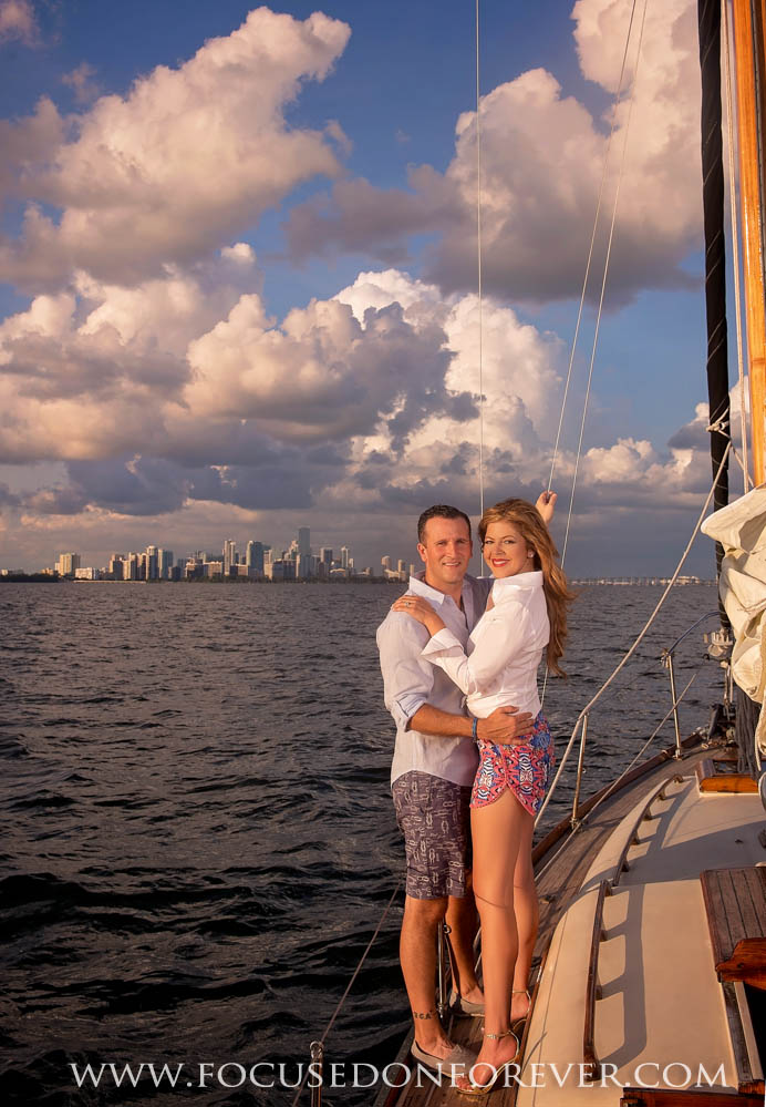 Engagement: Gabriela and James at Coconut Grove Sailing club
