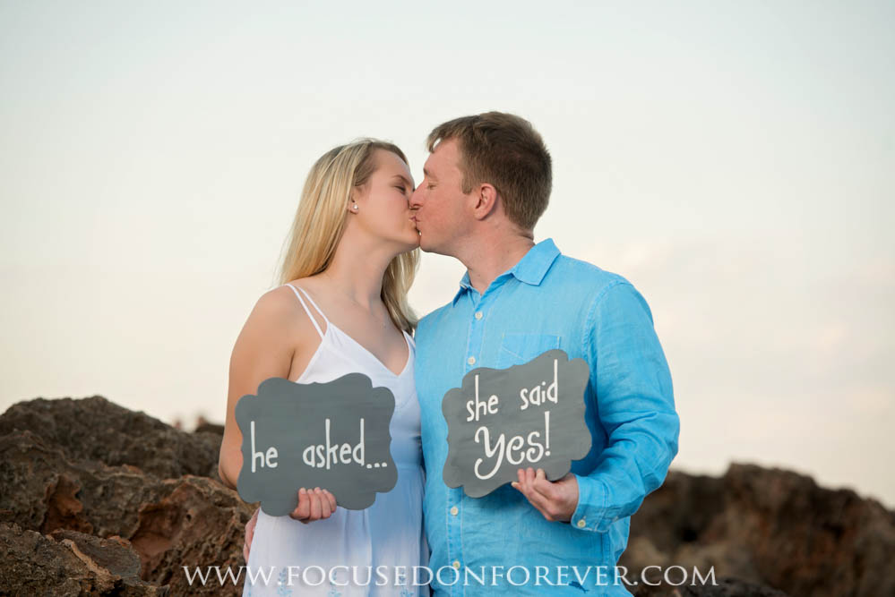 Engagement: Natalee and Ryan at House of Refudge, Stuart, FL